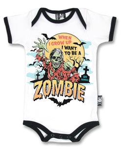 Six Bunnies Short Sleeved Babygrow - Zombie - Badass Babies