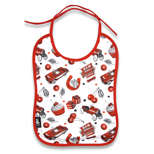 Cherry Garage Baby Bib - Six Bunnies