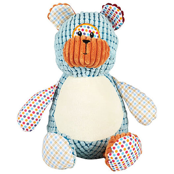Cubbies Harlequin Cubbyford Bear Personalised Soft Toy