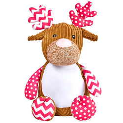 Cubbies Harlequin Cupcake The Deer Personalised Soft Toy