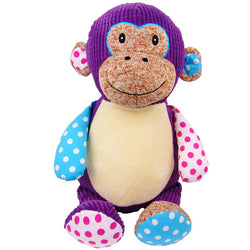 Cubbies Harlequin Huggles Monkey Personalised Soft Toy