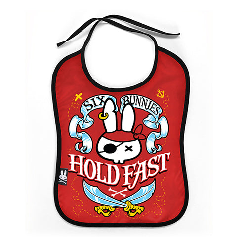 Hold Fast Baby Bib - Six Bunnies