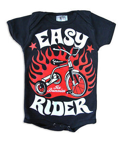 Six Bunnies Short Sleeved Babygrow - Easy Rider - Badass Babies