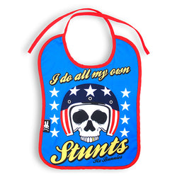 My Own Stunts Baby Bib - Six Bunnies