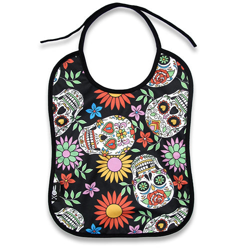 Sugar Skull Baby Bib - Six Bunnies