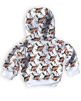 Six Bunnies Baby Hoodie - Mom and Dad Hearts - Badass Babies - 2