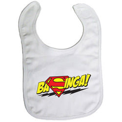 Baby Bib - Bazinga Superman