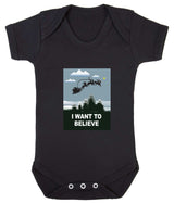 I Want To Believe Babygrow - Santa - Badass Babies - 2