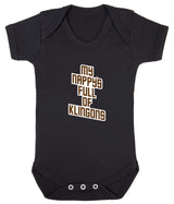My Nappy's Full of Klingons Babygrow - Badass Babies - 2