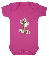 My Nappy's Full of Klingons Babygrow - Badass Babies - 3