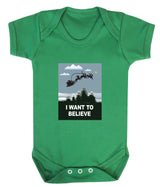I Want To Believe Babygrow - Santa - Badass Babies - 4