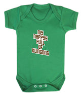 My Nappy's Full of Klingons Babygrow - Badass Babies - 4