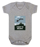 I Want To Believe Babygrow - Santa - Badass Babies - 5