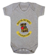 Outta My Way... Its Playtime Babygrow - Badass Babies - 4