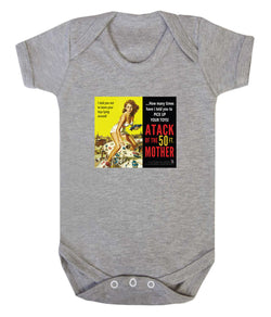 Attack of the 50ft Mother Babygrow - Badass Babies - 1