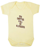My Nappy's Full of Klingons Babygrow - Badass Babies - 6