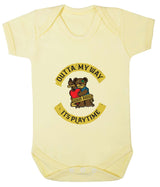 Outta My Way... Its Playtime Babygrow - Badass Babies - 5
