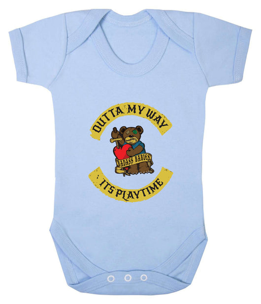 Outta My Way... Its Playtime Babygrow - Badass Babies - 6