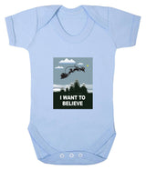 I Want To Believe Babygrow - Santa - Badass Babies - 7