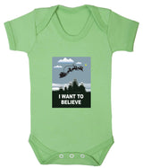 I Want To Believe Babygrow - Santa - Badass Babies - 8