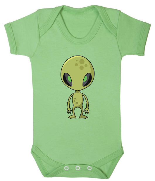 Little Green Alien Babygrow - Badass Babies - 1