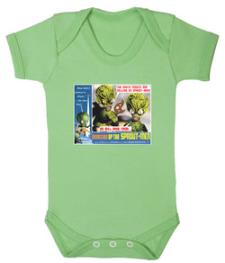 Invasion of the Sprout Men Babygrow - Badass Babies - 1