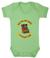 Outta My Way... Its Playtime Babygrow - Badass Babies - 7
