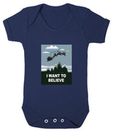 I Want To Believe Babygrow - Santa - Badass Babies - 1