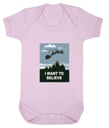 I Want To Believe Babygrow - Santa - Badass Babies - 9