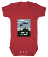 I Want To Believe Babygrow - Santa - Badass Babies - 10