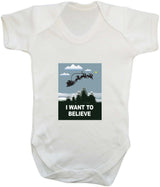 I Want To Believe Babygrow - Santa - Badass Babies - 11