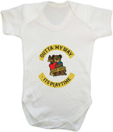 Outta My Way... Its Playtime Babygrow - Badass Babies - 11