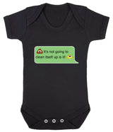 Poos Not Going To Clean Its Self Up Emoji Babygrow - Badass Babies - 1