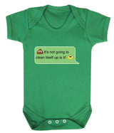 Poos Not Going To Clean Its Self Up Emoji Babygrow - Badass Babies - 3