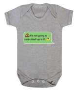 Poos Not Going To Clean Its Self Up Emoji Babygrow - Badass Babies - 4