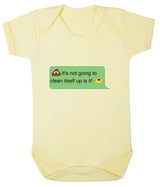 Poos Not Going To Clean Its Self Up Emoji Babygrow - Badass Babies - 5