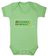 Poos Not Going To Clean Its Self Up Emoji Babygrow - Badass Babies - 7