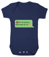 Poos Not Going To Clean Its Self Up Emoji Babygrow - Badass Babies - 8