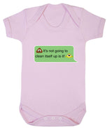Poos Not Going To Clean Its Self Up Emoji Babygrow - Badass Babies - 9