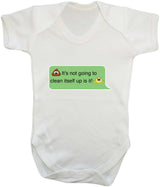 Poos Not Going To Clean Its Self Up Emoji Babygrow - Badass Babies - 11