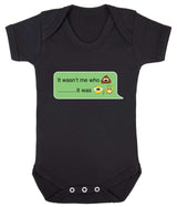 It Wasnt Me Who Pooper - It Was Grandad Emoji Babygrow - Badass Babies - 10