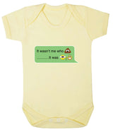 It Wasnt Me Who Pooper - It Was Grandad Emoji Babygrow - Badass Babies - 4