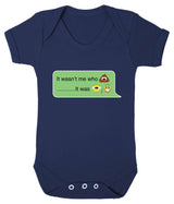 It Wasnt Me Who Pooper - It Was Grandad Emoji Babygrow - Badass Babies - 7