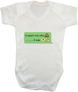 It Wasnt Me Who Pooper - It Was Grandad Emoji Babygrow - Badass Babies - 9