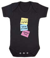Note To Self Babygrow - Badass Babies - 6