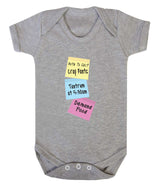 Note To Self Babygrow - Badass Babies - 9