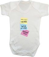 Note To Self Babygrow - Badass Babies - 5