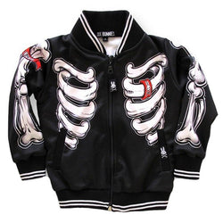 Six Bunnies Kids Jackets - Skeleton Black - Badass Babies - 1