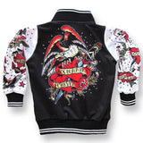 Six Bunnies Kids Jackets - Tattoo Black - Badass Babies - 2