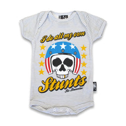 Six Bunnies Short Sleeved Babygrow - My Own Stunts - Badass Babies